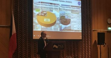 Mr. Crispian Lao, Industry Representative to the National Solid Waste Commission (NSWC) presented the different efforts undertaken by the private sector in addressing the plastic pollution.